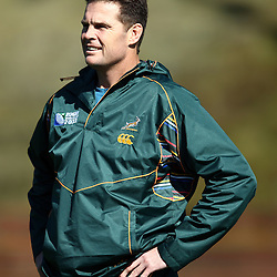 Wednesday 14th September 2011, Rassie Erasmus during the South African Training session at Rugby League Park<br /> Wellington <br /> Photographer Steve Haag