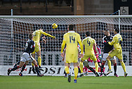 Hearts&rsquo; Callum Paterson scores his side's second goal - Dundee v Hearts in the Ladbrokes Scottish Premiership at Dens Park, Dundee. Photo: David Young<br /> <br />  - &copy; David Young - www.davidyoungphoto.co.uk - email: davidyoungphoto@gmail.com