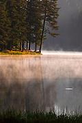 Splendid summer mornig by a beautiful mountain lake