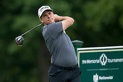 May 30, 2019 - Dublin, OH, U.S. - DUBLIN, OH - MAY 30: Luke List plays his shot from the 18th tee during the Memorial Tournament presented by Nationwide at Muirfield Village Golf Club on May 30, 2018 in Dublin, Ohio. (Photo by Adam Lacy/Icon Sportswire) (Credit Image: © Adam Lacy/Icon SMI via ZUMA Press)