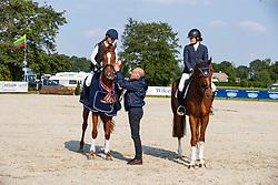 Greve Jan, Kroeze Renske, NED, Jolig W, Weimann Katja, NED, Jeu De Blanc W<br /> KWPN Kampioenschap Eventing Paarden<br /> Renswoude 2019<br /> © Hippo Foto - Dirk Caremans<br /> 29/05/2019