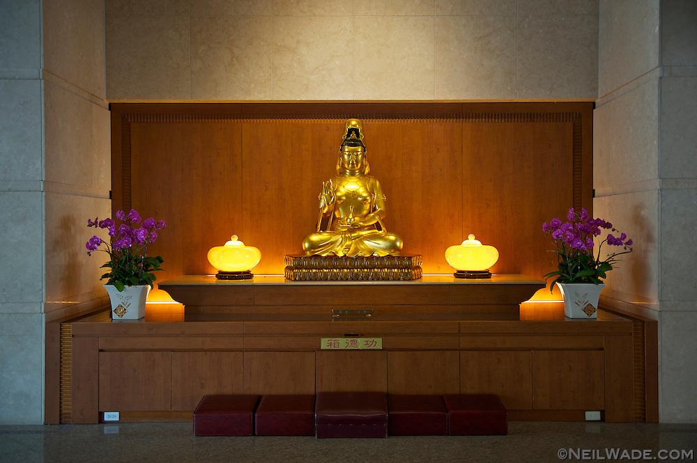 The entrance to the Chung Tai Chan Buddhist Monastery in Puli, Taiwan.