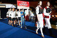 Katowice, Poland - 2017 September 01: Special Olympics Volleyball Team of Czech Republic attend in Opening Ceremony during European Unified Volleyball Tournament 2017 at Spodek Hall on September 01, 2017 in Katowice, Poland.<br /> <br /> Adam Nurkiewicz declares that he has no rights to the image of people at the photographs of his authorship.<br /> <br /> Picture also available in RAW (NEF) or TIFF format on special request.<br /> <br /> Any editorial, commercial or promotional use requires written permission from the author of image.<br /> <br /> Image can be used in the press when the method of use and the signature does not hurt people on the picture.<br /> <br /> Mandatory credit:<br /> Photo by © Adam Nurkiewicz / Mediasport