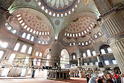 inside the Sultanahmet mosque in Istanbul