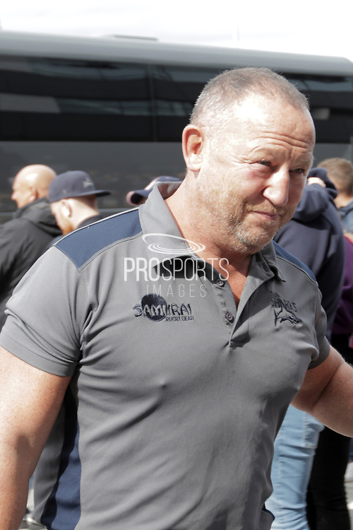 Sale Sharks  Coach Steve Diamond arrives for the Gallagher Premiership Rugby match between Sale Sharks and Worcester Warriors at the AJ Bell Stadium, Eccles, United Kingdom on 9 September 2018.