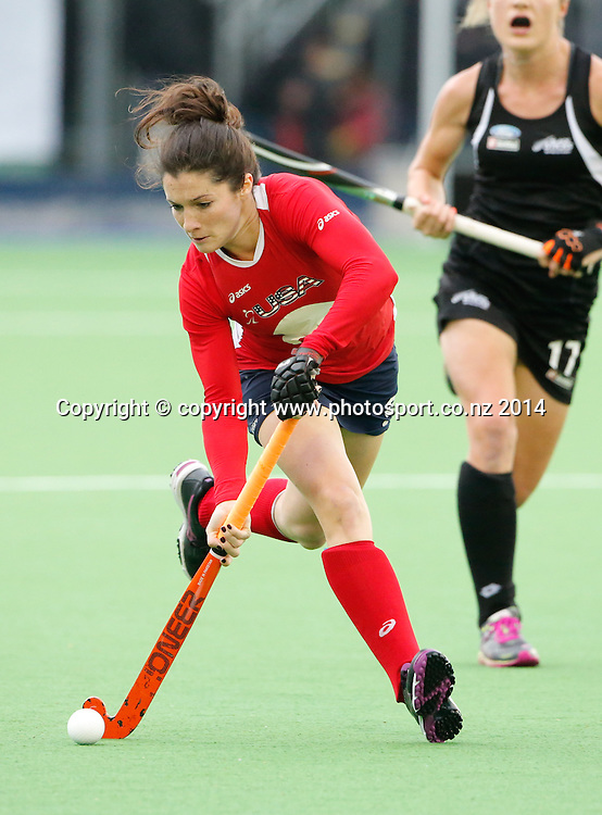 USA's Michelle Vittese. Fourth test, New Zealand Black Sticks Women v USA women's international hockey, Twin Turfs , Palmerston North, New Zealand. Thursday, 23 October, 2014. Photo: John Cowpland / www.photosport.co.nz