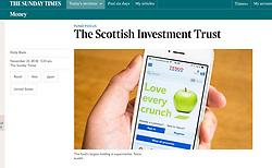 Sunday Times; Tesco online shopping app