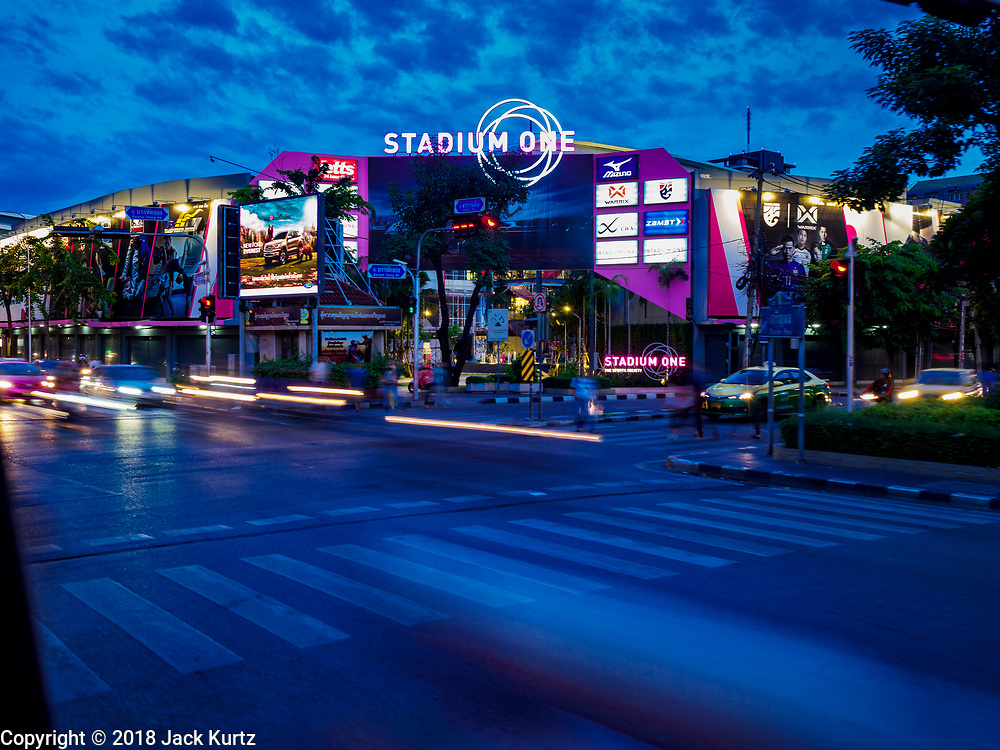 01 AUGUST 2018 - BANGKOK, THAILAND:     The new Stadium One, a sports themed mall in Bangkok.    PHOTO BY JACK KURTZ