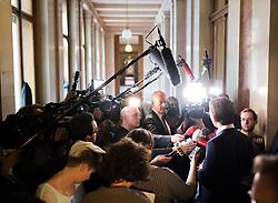 23.05.2017, Parlament, Wien, AUT, Parlament, Gespräche zwischen den sechs Parlamentsfraktionen mit der Bundesregierung, im Bild Außenminister und designierter ÖVP-Chef Sebastian Kurz // Austrian Foreign Minister Sebastian Kurz during meeting of the six National Council partys of austria at austrian parliament in Vienna, Austria on 2017/05/23, EXPA Pictures © 2017, PhotoCredit: EXPA/ Michael Gruber