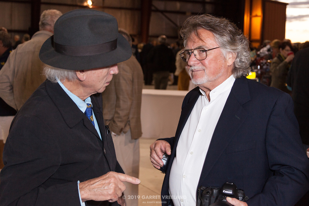 Tim Considine and Attendee in conversation, Planes and Cars at the Santa Fe Airport, 2013 Santa Fe Concorso.