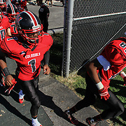 William Penn players take the field for the start of second half against Appoquinimink Saturday, Oct. 10, 2015 at Bill Cole Stadium in New Castle, DE.
