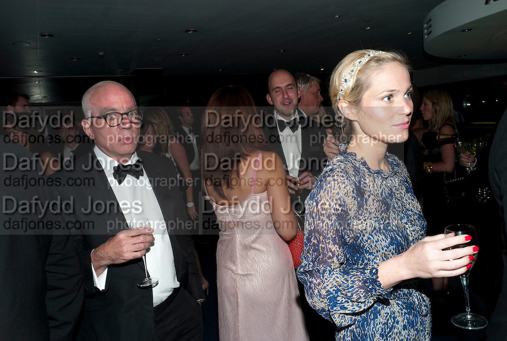 MICHAEL WOLFF; VICTORIA FLOETHE, GQ Man of the Year awards. The royal Opera House. Covent Garden. London. 6 September 2011. <br /> <br />  , -DO NOT ARCHIVE-© Copyright Photograph by Dafydd Jones. 248 Clapham Rd. London SW9 0PZ. Tel 0207 820 0771. www.dafjones.com.