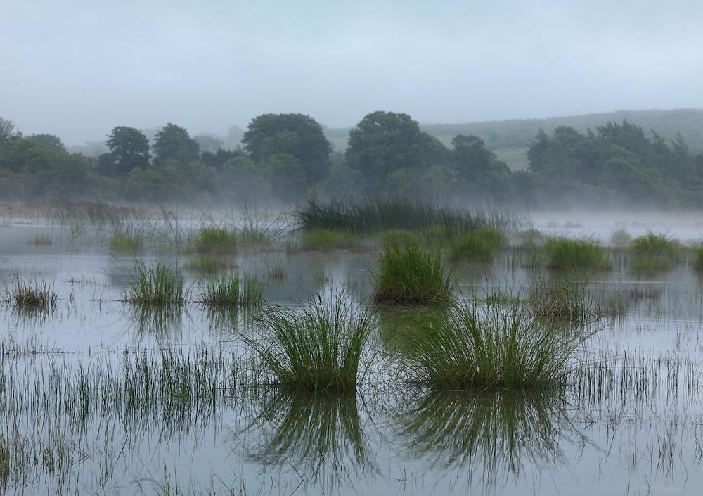 Unique groundwater-fed, seasonal turlough lake, Ireland Burren national park