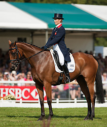Zara Phillips and High Kingdom, during the second day of the dressage phase of the Land Rover Burghley Horse Trials 2011, Stamford, England, September 2, 2011. Photo by Nico Morgan/i-Images.