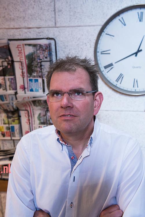Nederland, Denekamp 27mei2014 Patrick Heinink Boekverkoper/uitgever te denekamp. foto Cees Elzenga Hetoog.nl