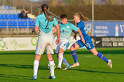Manja Rogan of Slovenia during women football match between National teams of Slovenia and Iceland in 2019 FIFA Women's World Cup qualification, on April 06, 2018 in Sportni park Lendava, Lendava, Slovenia. Photo by Mario Horvat / Sportida