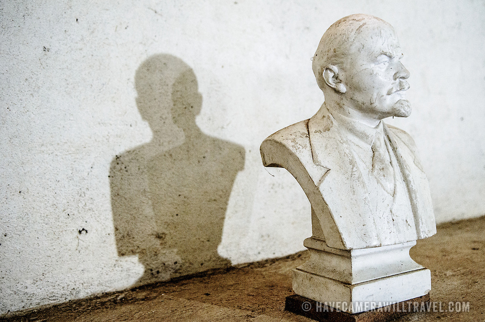 A statue of Lenin in the President's cave at the Pathet Lao Caves of Vieng Xai in Houaphanh Province in northeastern Laos. It was in these natural caves deep in karsts that the Pathet Lao leadership avoided constant American bombing raids during the Vietnam War.