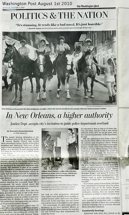 Photos shot for the Washington Post on a report about police in New Orleans