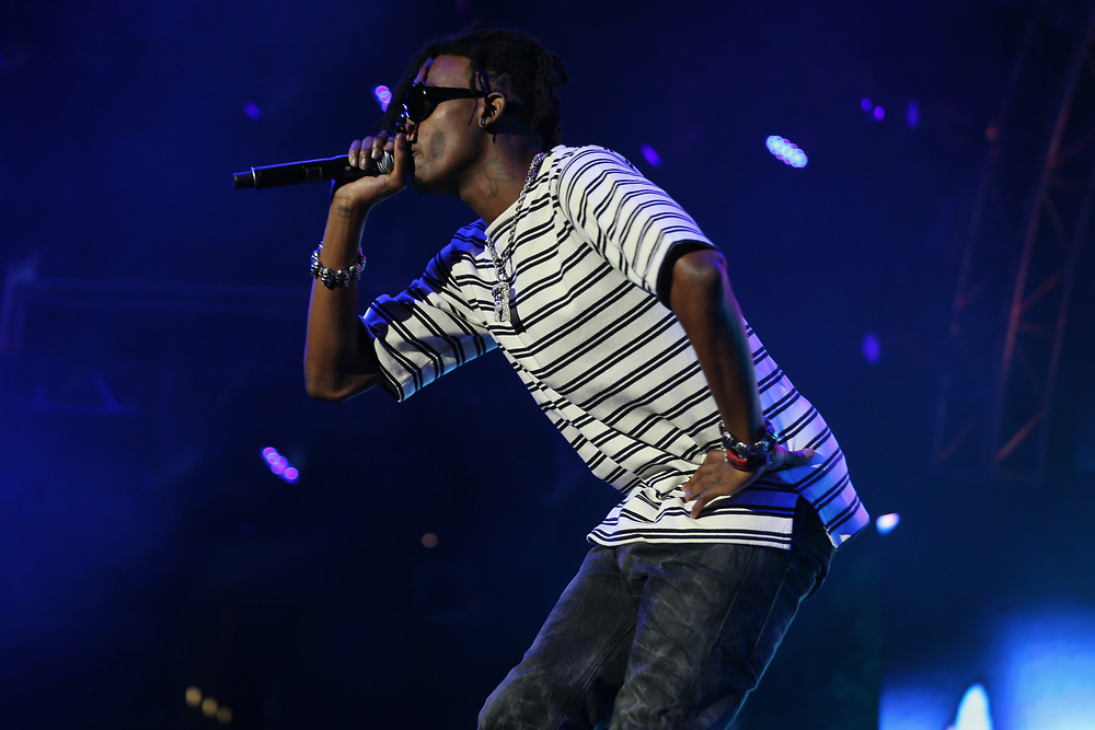 Playboi Carti performs at the 2017 BET Experience at The Staples Center on Thursday June 22, 2017, in Los Angeles. (Photo by Los Angeles/Invision/AP)