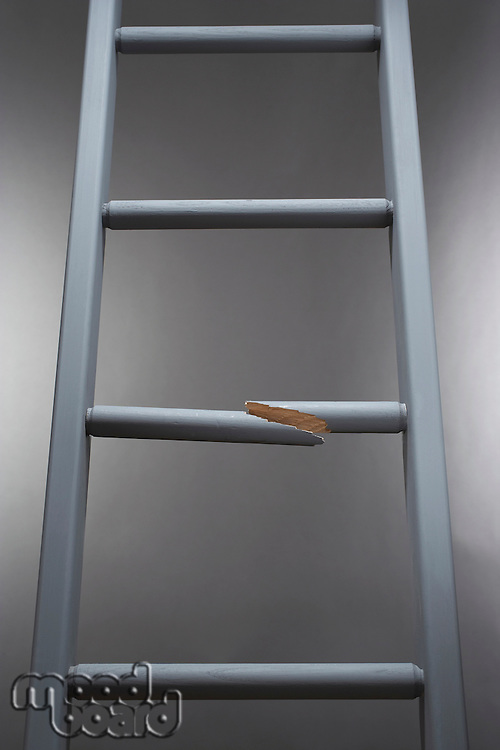 Ladder with one step broken