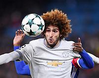 FUSSBALL CHAMPIONS LEAGUE SAISON 2017/2018 GRUPPENPHASE FC Basel - Manchester United FC          22.11.2017 Marouane Fellaini (Manchester United FC) mit Ball