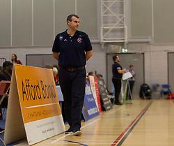 Bristol Flyers head coach, Andreas Kapoulas - Photo mandatory by-line: Jack Phillips/JMP - 25/11/2018 - BASKETBALL - Ellesmere Port Arena - Ellesmere Port, England - Cheshire Phoenix v Bristol Flyers - {event}