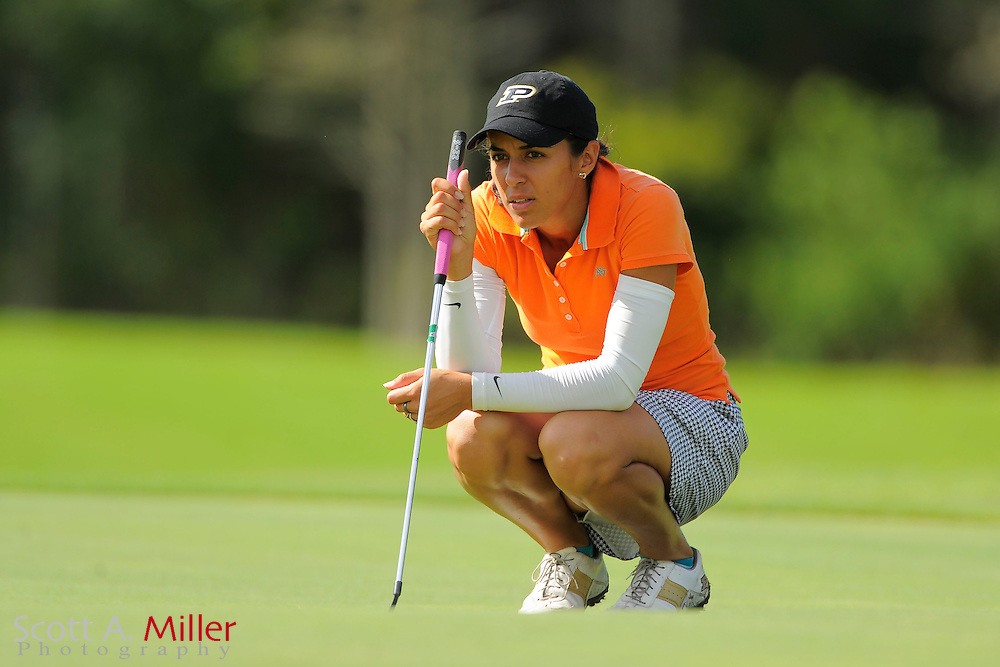 Paula Reto during the rain-delayed third round of the Symetra Tour Championship at LPGA International on Sept. 29, 2013 in Daytona Beach, Florida. <br /> <br /> <br /> &copy;2013 Scott A. Miller