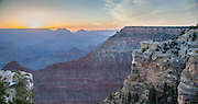 sunrise view from south rim of the Grand Canyon, Arizona