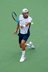 August 11, 2018 - Cincinnati, OH, USA - Western and Southern Open Tennis, Cincinnati, OH - August 11, 2018 - Feliciano Lopez in action against Marcos Baghdatis. - Photo by Wally Nell/ZUMA Press (Credit Image: © Wally Nell via ZUMA Wire)