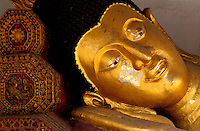 Thailande - <br /> Province de Chiang Mai - Chiang Mai - Wat Chedi Luang - Sleeping Bouddha