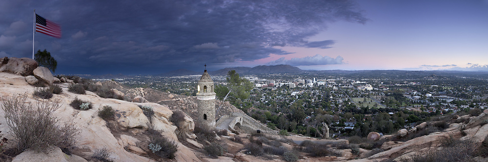 Panoramic Photo of Mount Rubidoux, Riverside, California