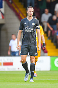Jonny Evans of Leicester City (6) during the Pre-Season Friendly match between Scunthorpe United and Leicester City at Glanford Park, Scunthorpe, England on 16 July 2019.