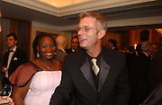 Pauline Malafani and Stephen Daldry. Laurence Oliver Awards, Hilton Hotel. 26 February 2006. ONE TIME USE ONLY - DO NOT ARCHIVE  © Copyright Photograph by Dafydd Jones 66 Stockwell Park Rd. London SW9 0DA Tel 020 7733 0108 www.dafjones.com