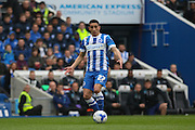 Brighton striker, Anthony Knockaert (27) during the Sky Bet Championship match between Brighton and Hove Albion and Derby County at the American Express Community Stadium, Brighton and Hove, England on 2 May 2016. Photo by Phil Duncan.