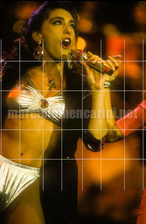 Sanremo Music festival 1991. Italian pop singers Sabrina Salerno / Festival di Sanremo 1991. La cantante Sabrina Salerno - © Marcello Mencarini