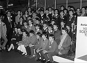 10/01/1986.01/10/1986.10th January 1986.The Aer Lingus Young Scientist of the Year Exhibition at the RDS, Dublin...Picture shows a group of some of the winners at the Exhibition. .