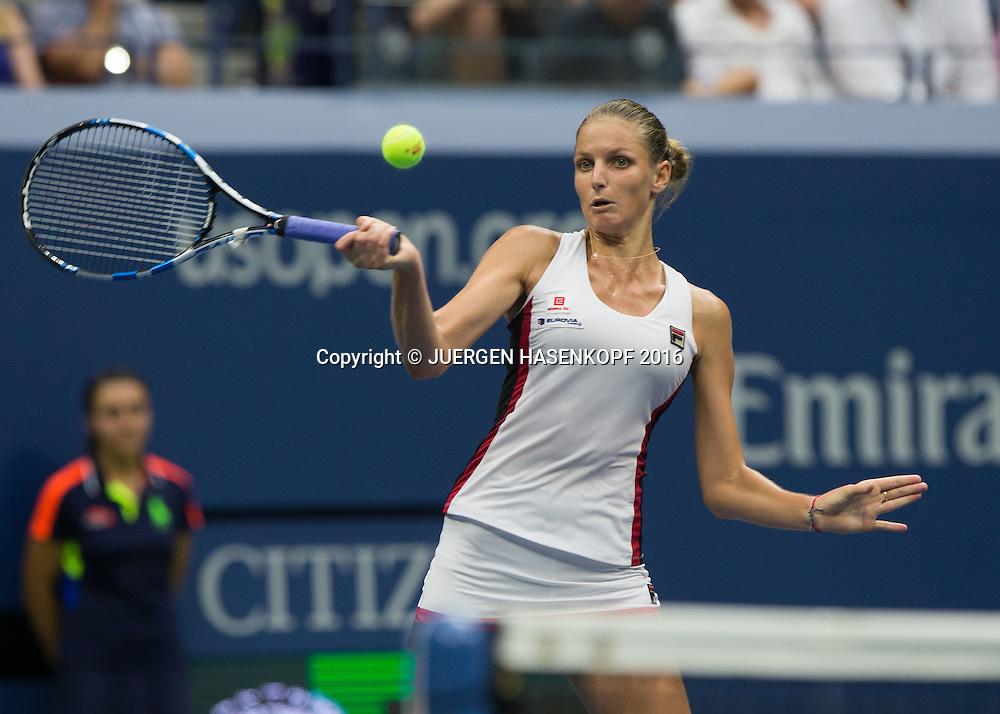 KAROLINA PLISKOVA (CZE)<br /> <br /> Tennis - US Open 2016 - Grand Slam ITF / ATP / WTA -  USTA Billie Jean King National Tennis Center - New York - New York - USA  - 10 September 2016.