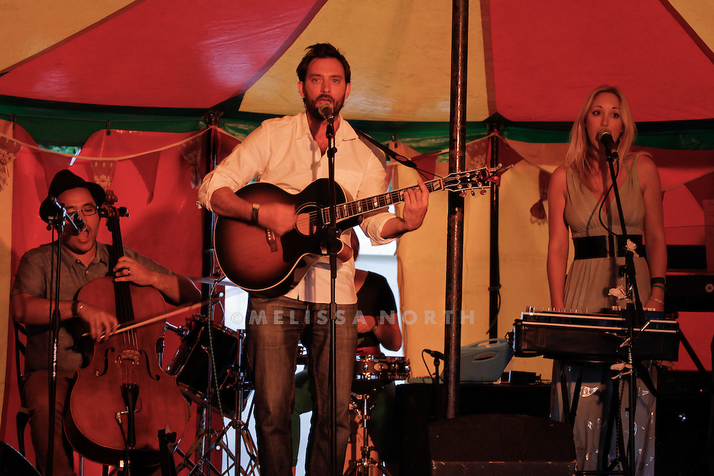 Silvermoths perform live on stage at Standon Calling, Herts, UK on 13 August 2011. JPH/B2779