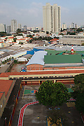 An aerial view of Instituto Cristóvan School in São Paulo, Brazil. Missão Paz, an organisation that works in partnershp with C&A Foundation, pays for children to attend the school so that parents who are working in the textile industry can get on and work without worrying about looking after their childen at the same time.