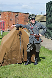 "Fort Paull ""Mein Little Tent"" Caption competition. <br /> <br />   04May 2015<br />   Image © Paul David Drabble <br />   www.pauldaviddrabble.co.uk"