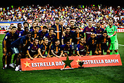 FC Barcelona team with the Joan Gamper Trophy during the Joan Gamper trophy game between FC Barcelona and CA Boca Juniors in Camp Nou Stadium at Barcelona, on 15 of August of 2018, Spain, Photo Xavier Bonilla / SpainProSportsImages / DPPI / ProSportsImages / DPPI