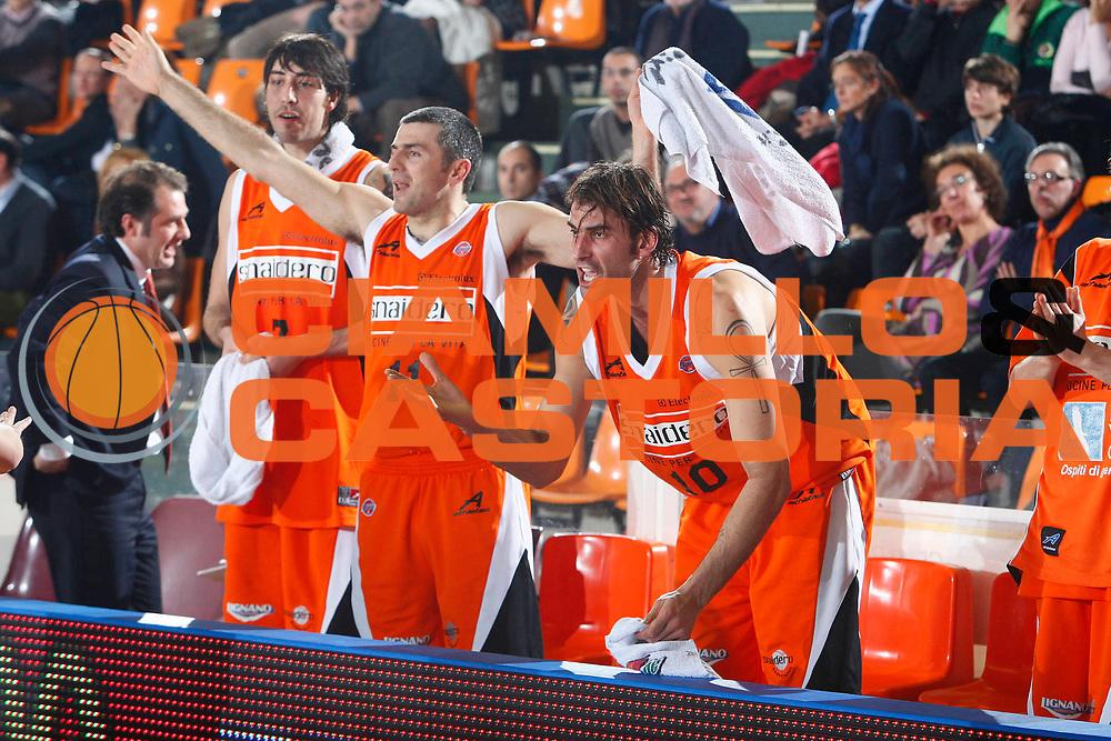 DESCRIZIONE : Udine Lega A1 2007-08 Snaidero Udine Tisettanta Cantu <br /> GIOCATORE : Christian Di Giuliomaria Team Udine <br /> SQUADRA : Snaidero Udine <br /> EVENTO : Campionato Lega A1 2007-2008 <br /> GARA : Snaidero Udine Tisettanta Cantu <br /> DATA : 22/12/2007 <br /> CATEGORIA : Esultanza <br /> SPORT : Pallacanestro <br /> AUTORE : Agenzia Ciamillo-Castoria/S.Silvestri
