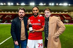 Ashley Williams of Bristol City is presented with the man of the match award after a 1-0 victory - Rogan/JMP - 18/01/2020 - Ashton Gate Stadium - Bristol, England - Bristol City v Barnsley - Sky Bet Championship.
