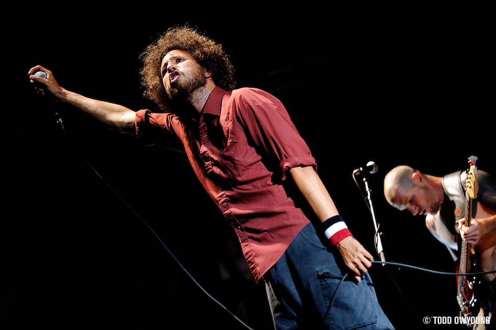 Rage Against The Machine reunited to perform at Lollapalooza 2008 in Chicago, Illinois.
