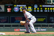 Joe Mauer #7 of the Minnesota Twins waits for a pitch during a game against the Seattle Mariners on June 2, 2013 at Target Field in Minneapolis, Minnesota.  The Twins defeated the Mariners 10 to 0.  Photo: Ben Krause