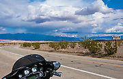 Motorcycle, Death Valley National Park, DVNP, Route 190, Panamint Valley, Sea Level