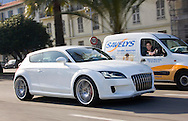 02/02/2006.   .  Phil Lanning tries out the Audi Shooting Break concept car at Nice, France..   Pic: Andy Barr.. 07974 923919  (mobile).  andy_snap@mac.com.