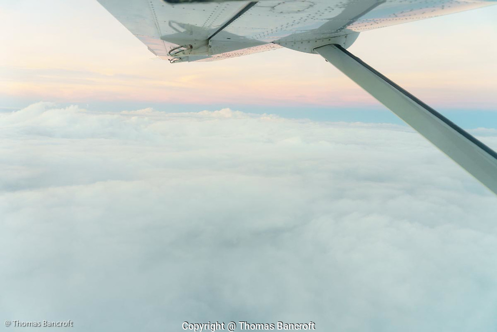 The clouds below the flight over the Cape York Peninsula.
