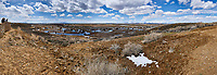 Eastern overlook of the wetlands in Arapaho National Wildlife Refuge. Composite of seven images taken with a Nikon D3 camera and 14-24 mm f/2.8 lens (ISO 200, 23 mm, f/16, 1/200 sec). Panorama composed using Auto Pano Giga Pro.
