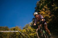 Mountain biking man, woman, kids in virgina, north carolina, montana, and california.